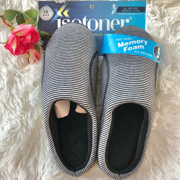 🆕New with tags ISOTONER MEMORY FOAM Slippers Clog